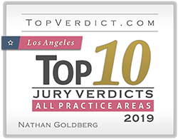 TopVerdict.com | Los Angeles Top 10 Jury Verdicts | All Practice Areas | 2019 | Nathan Goldberg